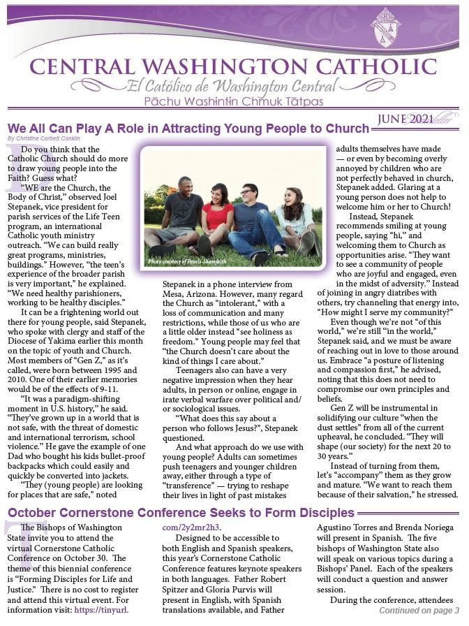 June Central Washington Catholic | El Católico Washington Central