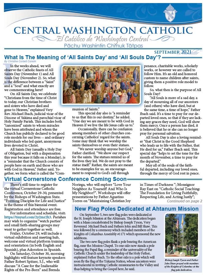 September Central Washington Catholic | El Católico Washington Central